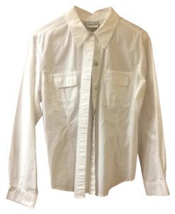 Chico's Button Down Shirt White