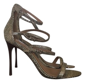 Badgley Mischka Stiletto Strappy Heel Gold Formal