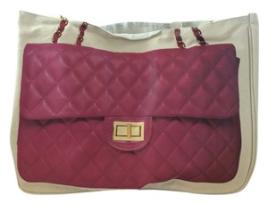 Cusp Cream and Pink Travel Bag