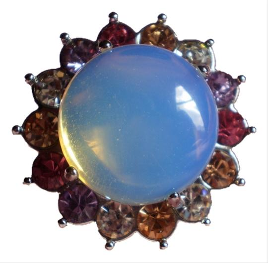 Other Opalite & Multi Color Austrian Crystals in Stainless Steel (Size 7)