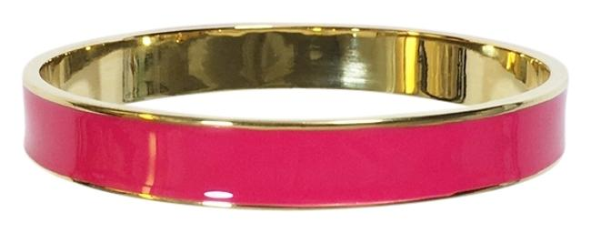 Item - Magenta 12k Gold Plate Classic Stacking Bangle with Dust Bag Perfect Pop Of Color Bracelet