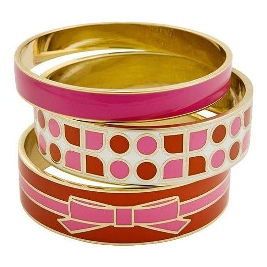 Kate Spade Kate Spade Classic Magenta Stacking Bangle NWT with Dust Bag! Perfect Pop of Color Image 2