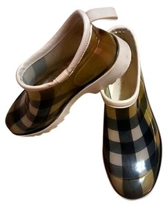Burberry Nova Checked Green And Black green, black, white Boots