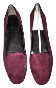 Pour La Victoire Smoking Slippers Loafers Burgundy Flats