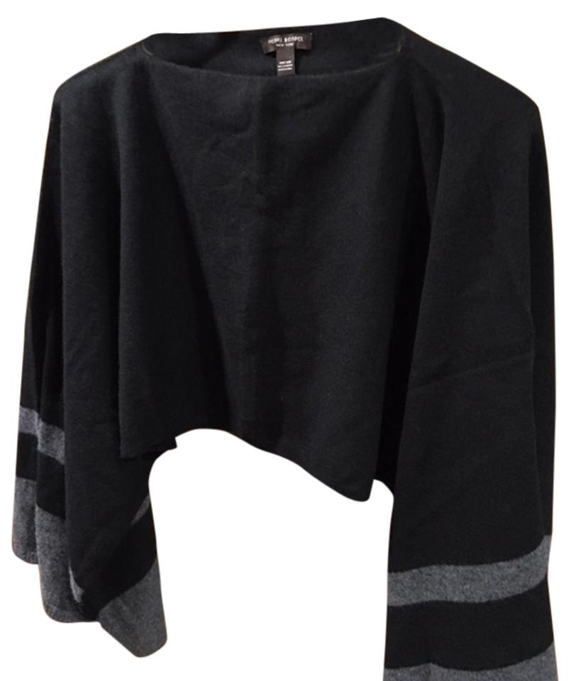 2062a50e270 Henri Bendel Black and Grey Cashmere Poncho Cape Size OS (one size ...