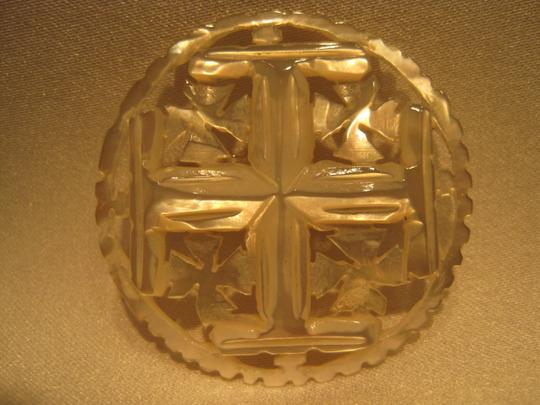 Other Jerusalem & Pattee' Cross Mother of Pearl Pin - [ Roxanne Anjou Closet ]