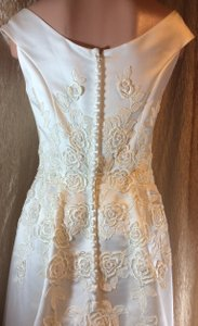 Jasmine Pearls & All Over Embroidered Floral Design Wedding Dress