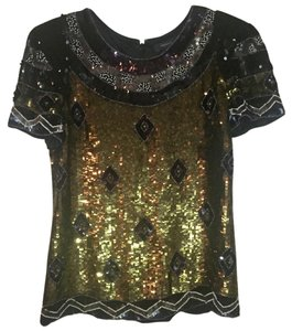 French Connection Top Black sequin
