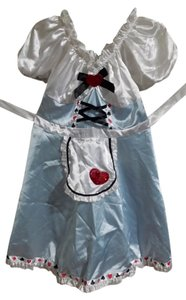 Target short dress Baby blue and white Alice In Wonderland Costume Halloween Cosplay on Tradesy
