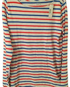 J.Crew Cotton Classic Top Red white stripe