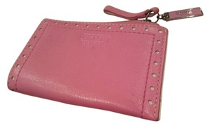 Coach Immaculate Condition Bubblegum Pink Coach Leather Wallet