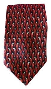 100% Silk Men's Handmade Hot Peppers Men's Neck Tie