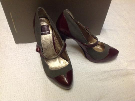 Dolce Vita Burgundy and Gray Pumps Image 7