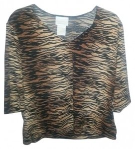 Christie & Jill Blouse Top Animal Print