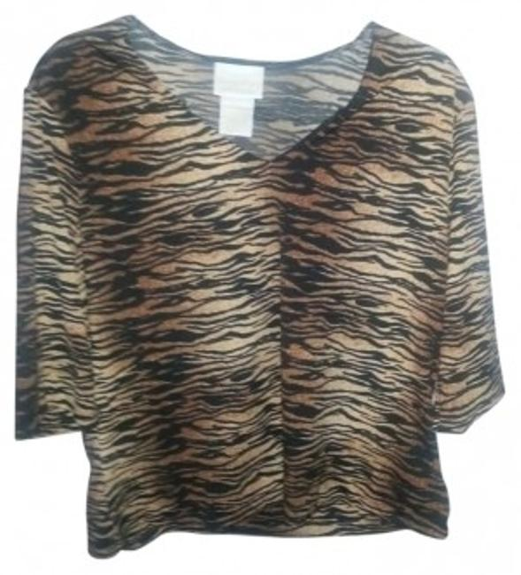 Preload https://item1.tradesy.com/images/christie-and-jill-animal-print-blouse-night-out-top-size-16-xl-plus-0x-143610-0-0.jpg?width=400&height=650