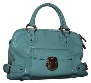 Marc Jacobs Patent Leather Satchel in Turquoise