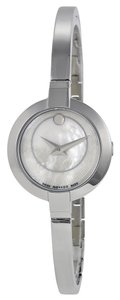 Movado Mother of Pearl Dial Silver tone Stainless Steel Banle Bracelet Designer Ladies Watch