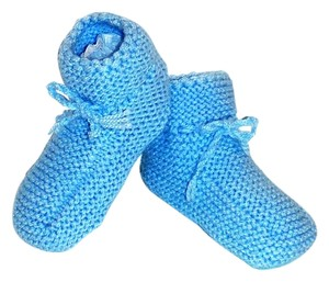 Other NEW HAND KNIT BABY BOY CROCHET BOOTIES -- ONE OF A KIND!