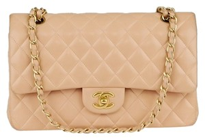 Chanel Leather Classic Black Lambskin Quilted Leather Classic Flap Mini Small Ghw Gold Hardware Camellia Flower Floral Cc Logo Shoulder Bag