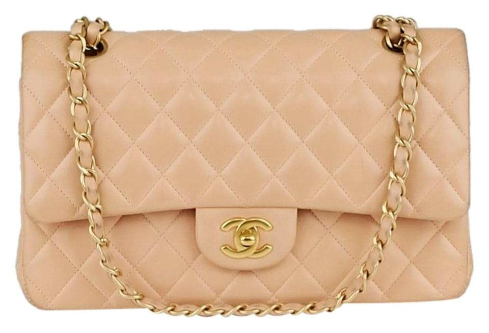 f78332b7f45a Chanel Classic Flap Quilted Leather Classic Medium Double Light Pink  Lambskin Shoulder Bag