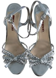 Prada Leather silver Sandals
