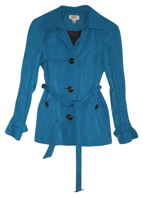 Preload https://item4.tradesy.com/images/talbots-women-s-turquoise-trench-coat-1436178-0-0.jpg?width=400&height=650