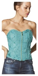 Other Strapless Ruffle Bralette Bustier Top Mint Green