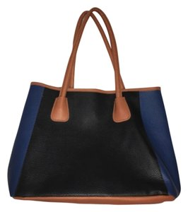 Neiman Marcus Tote in Blue/black/beige