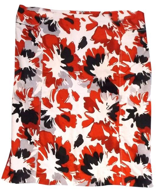 New York & Company Pencil Skirt Red, Black, and white