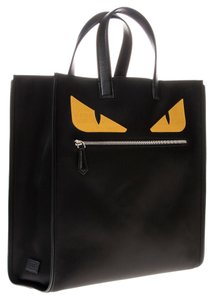 Fendi Tote in Black Yellow