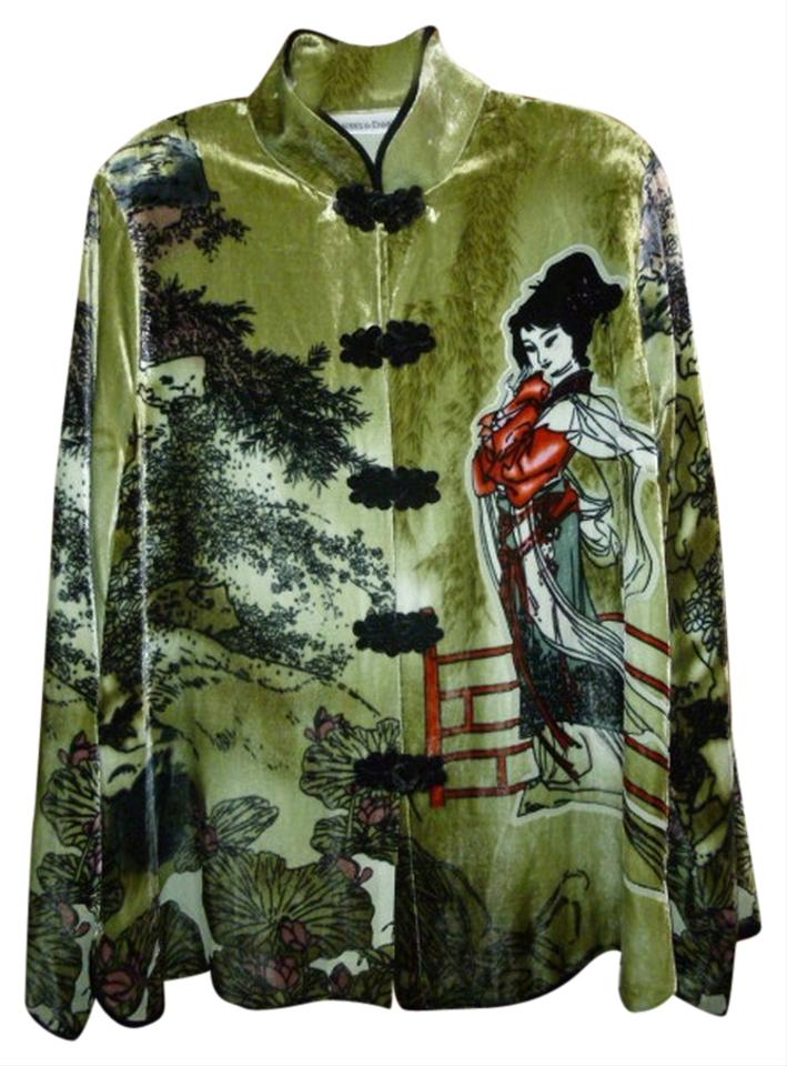 a3b8e4d219a Multicolored Womens Asian Velveteen Dressy Jacket L Large Wearable ...