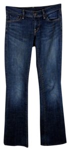 Citizens of Humanity Low Waist Tall Long Boot Cut Jeans-Dark Rinse