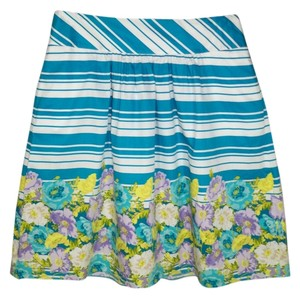 Talbots Floral Cotton A-line Skirt