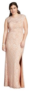 City Triangles Prom Cap Sleeve Slit Lace Dress