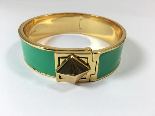Kate Spade Kate Spade Locked In Green Hinged Bracelet NWT Great Stacking Pop of Color! Image 3