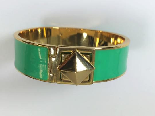 Kate Spade Kate Spade Locked In Green Hinged Bracelet NWT Great Stacking Pop of Color! Image 4