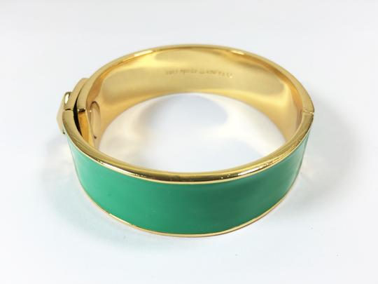 Kate Spade Kate Spade Locked In Green Hinged Bracelet NWT Great Stacking Pop of Color! Image 5
