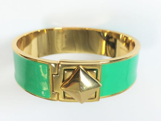Kate Spade Kate Spade Locked In Green Hinged Bracelet NWT Great Stacking Pop of Color! Image 6