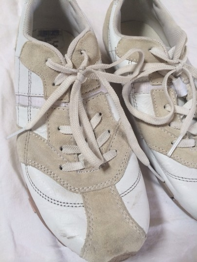 Diesel White Leather Off-White Suede Athletic