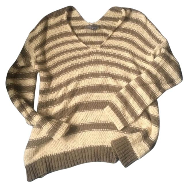 Preload https://img-static.tradesy.com/item/14364358/vince-brown-and-creame-sweater-0-1-650-650.jpg