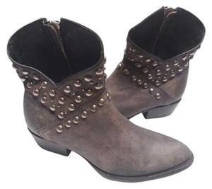 Matisse Studded Leather Ankle Ash Black Boots