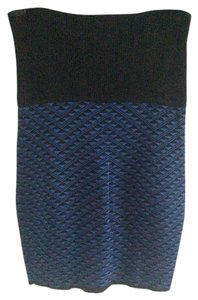 Catherine Malandrino Pencil Stretchy Skirt Black, blue