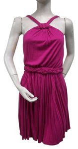Akiko short dress Fuschia Mini on Tradesy