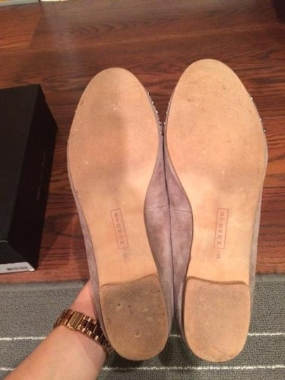 Steven by Steve Madden Suede Studs Smoking Nude Flats