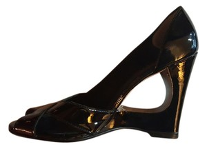 Michael Kors Patent Leather Wedge Black Wedges