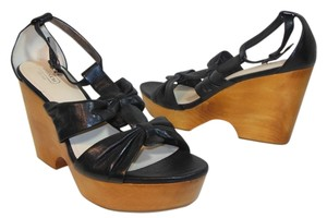 Coach Leather Wedge Sexy black Wedges