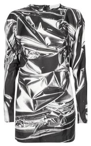 Stella McCartney Edgy Geometric Silk Print Dress