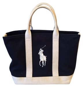Polo Ralph Lauren Tote in Navy and white