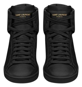 Saint Laurent Sneakers High Top Leather Ysl Black Athletic