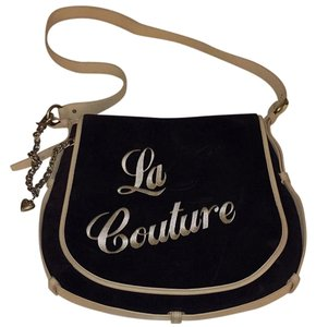 Juicy Couture Black And Beige Messenger Bag